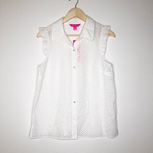 LILLY PULITZER Lenox Button Down Top